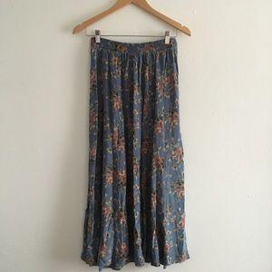 Clio Skirts - Vintage Fall Floral Prairie Clio Skirt